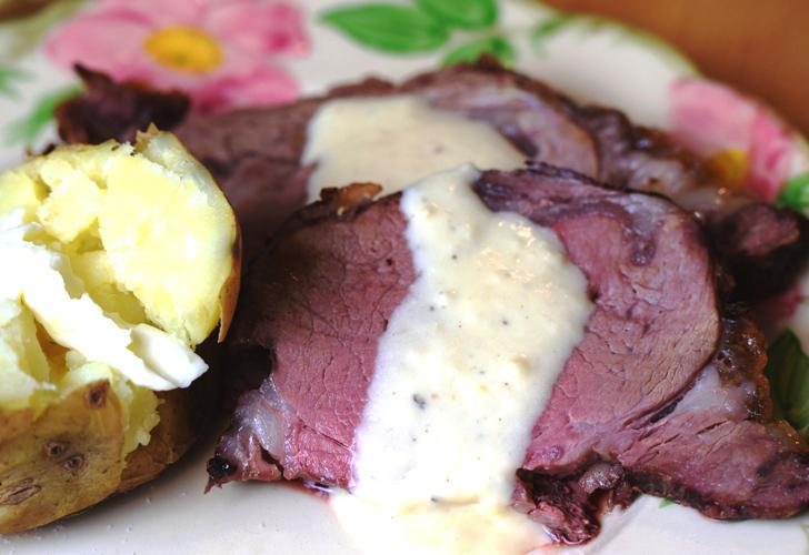 Prime Rib with Dijon-Horseradish Cream, Sauce