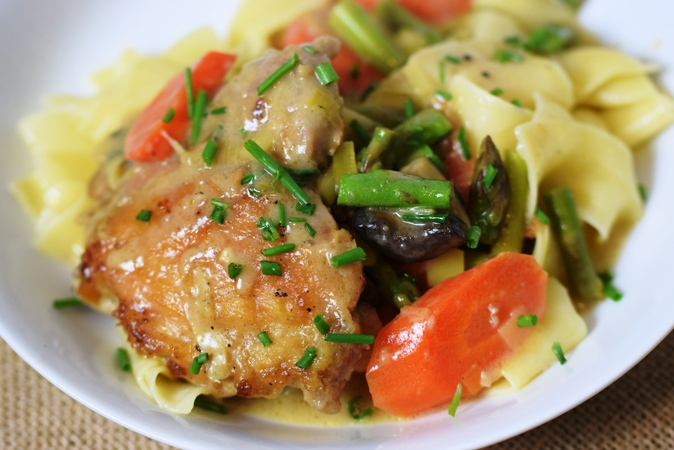 Chicken Fricasee with Spring Vegetables