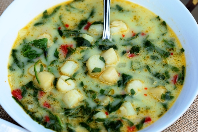 Spinach & Scallop Soup
