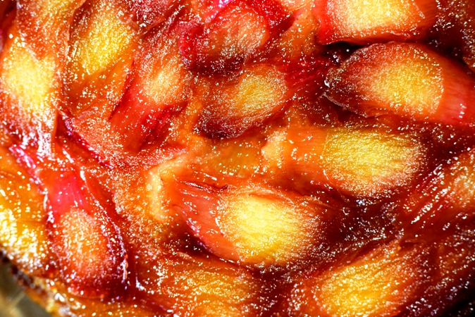 Top of Rhubarb Cake.JPG