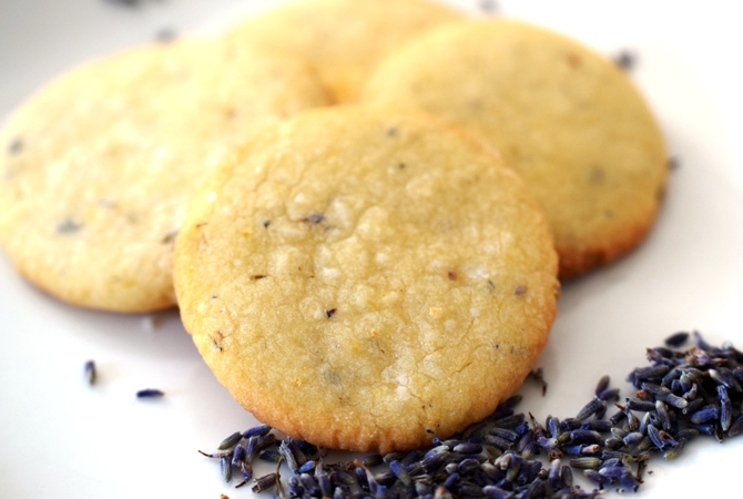 Lemon & Lavender Shortbread Cookies