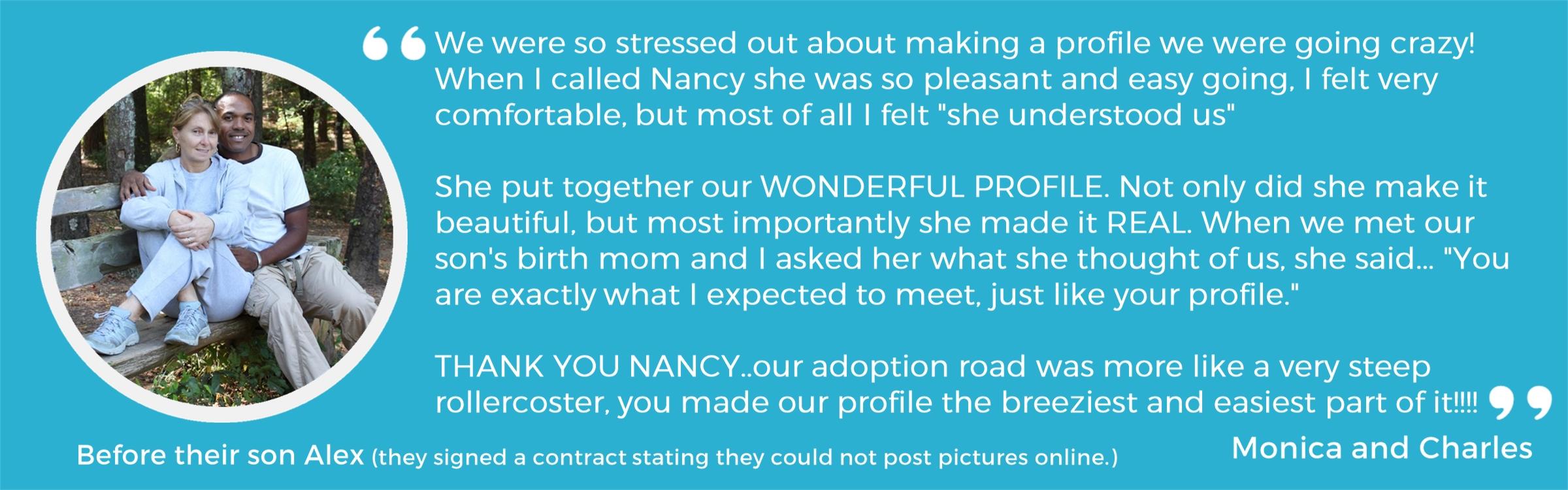 Testimonials Adoption Profile Design