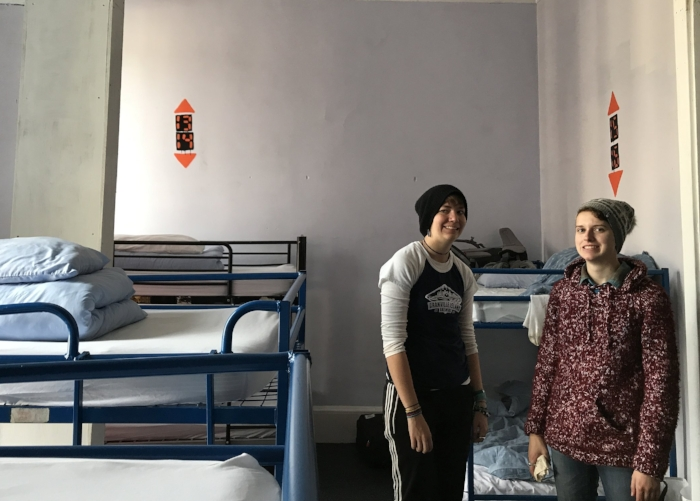BAD HOSTEL. literally we were afraid to touch anything and slept with at least 16 other people.