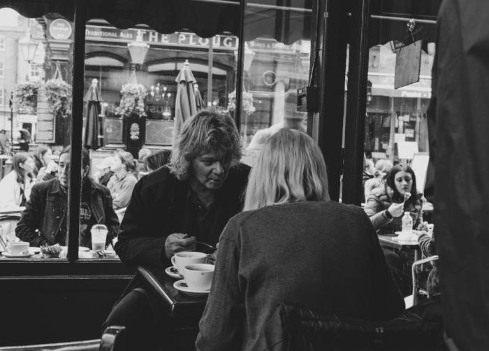 a coffee shop in london.