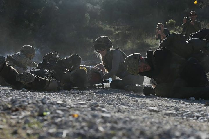 me and the journalists covering the casualty as an ied goes off. photo by @ericbouvet