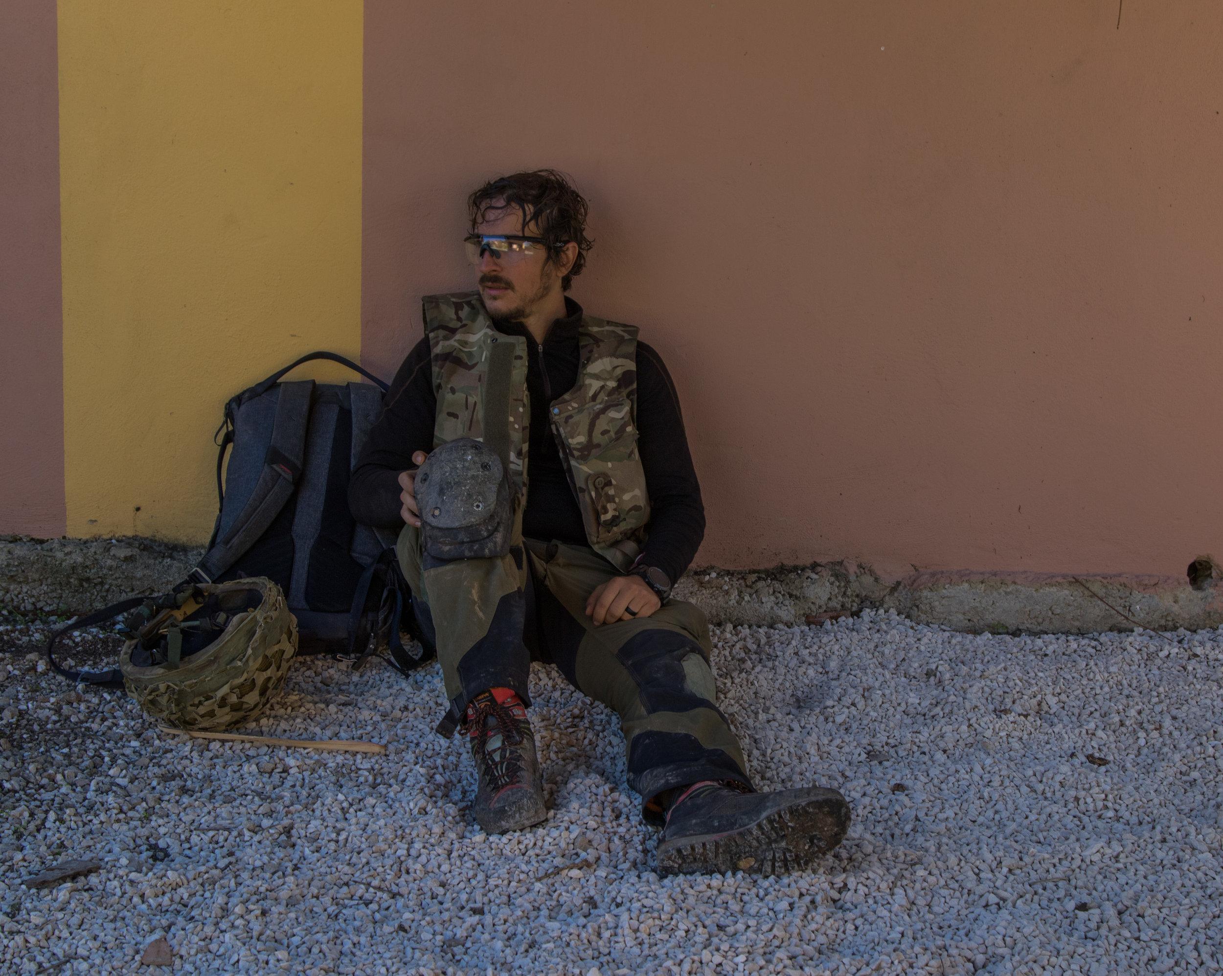 alex, a journalist, rests