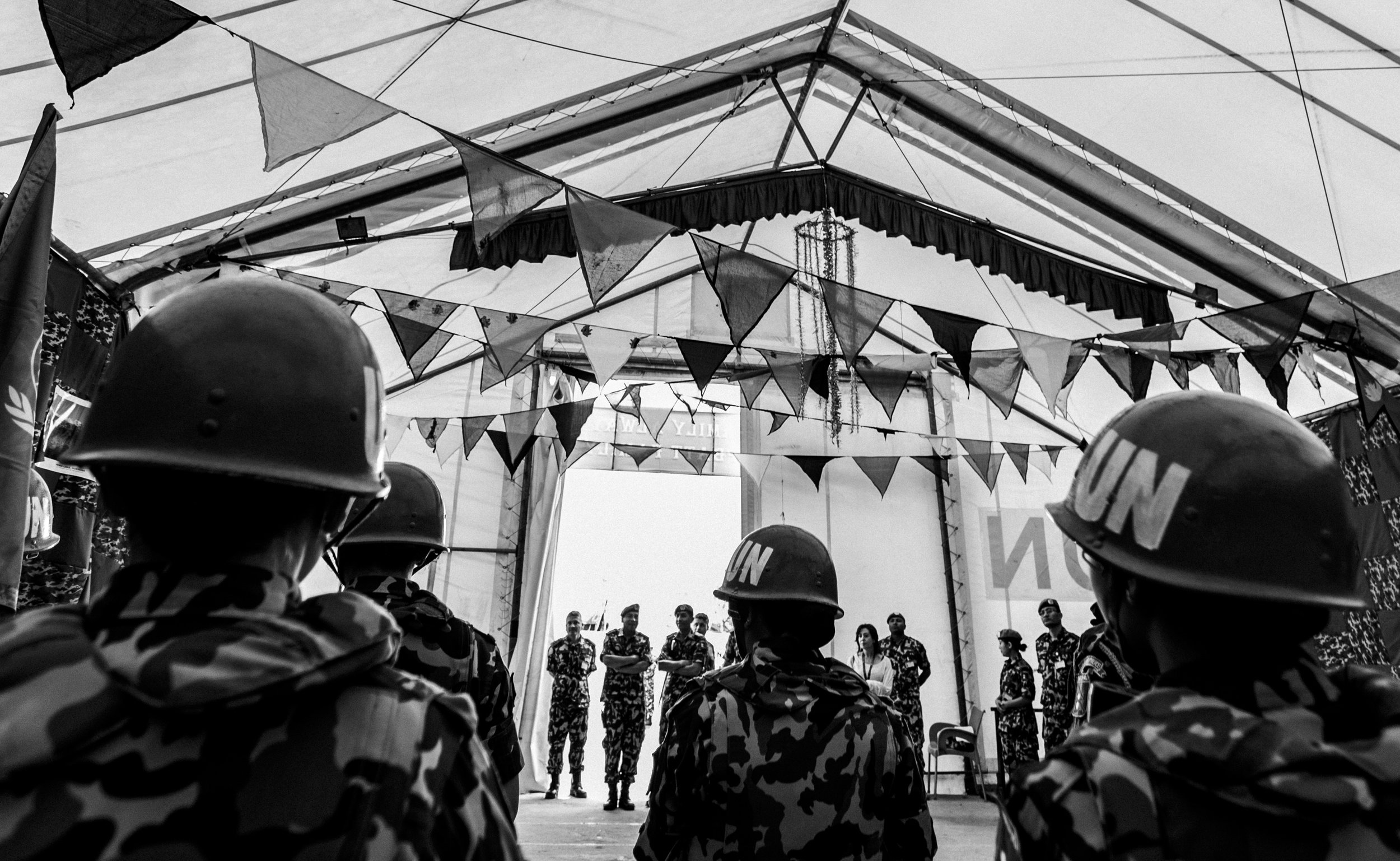 May 6, 2018, UNIFIL- Nepalese peacekeepers are briefed before going on a patrol.
