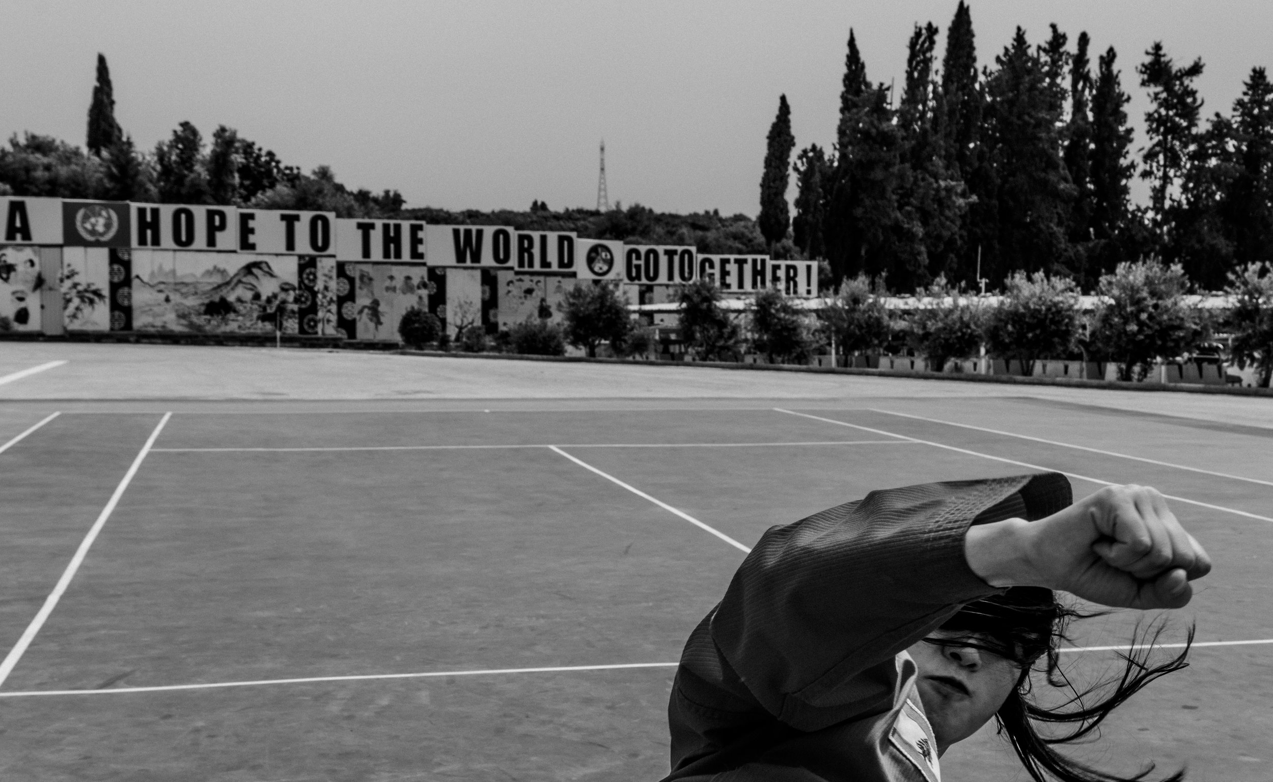 May 4, 2018, UNIFIL- SFC Kung Ah Park (30) kicks and breaks a board.