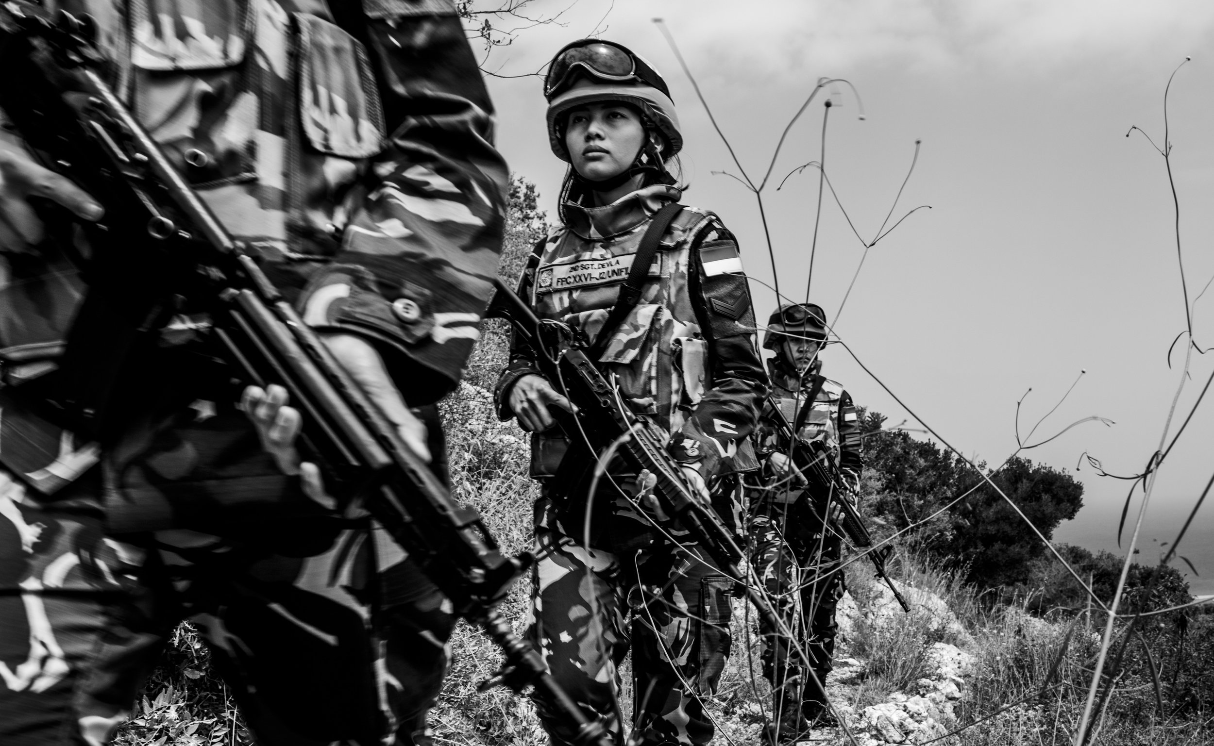 May 5, 2018, UNIFIL- Second SGT. Devla on a training for patrol inside their base camp.