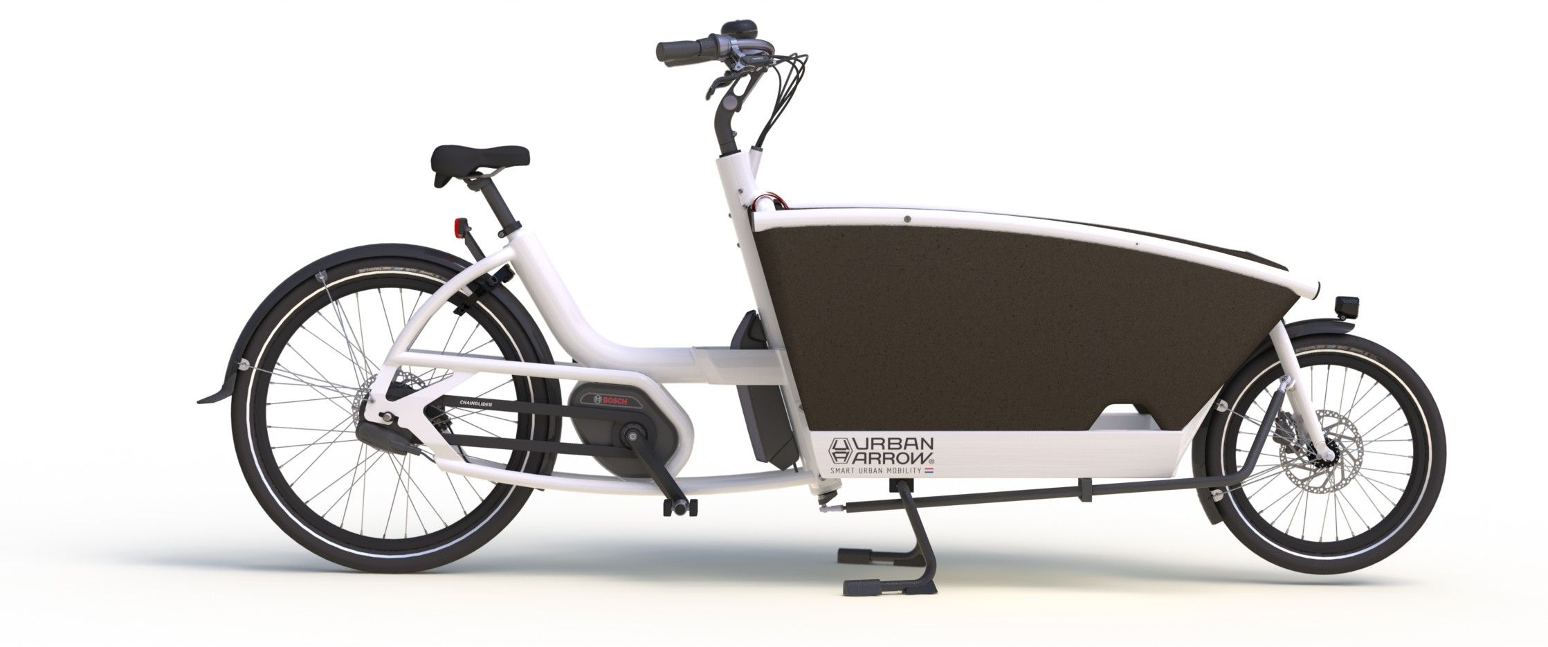 The Urban Arrow Family  - a purpose built modular family electric bike