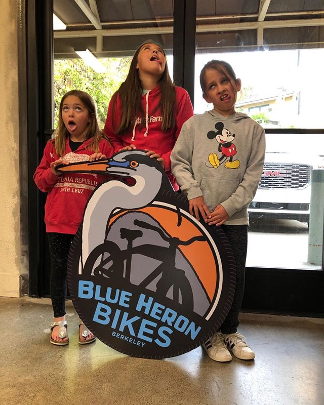 Blue Heron Bikes granddaughters, Giuliani, Claire and Abby Snead