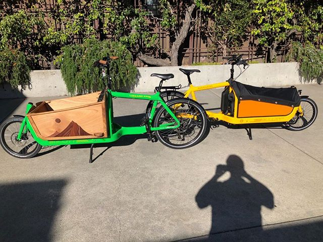 Larry vs Harry Bullitt bikes with big color