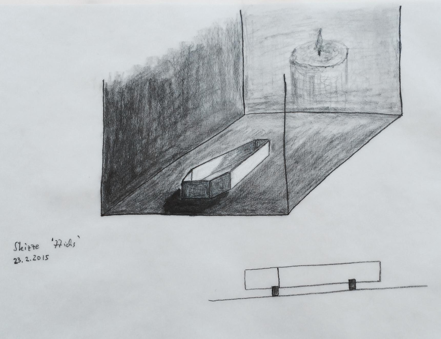 entwurfs.zeichnung wandlungen des ich < 77ichs >