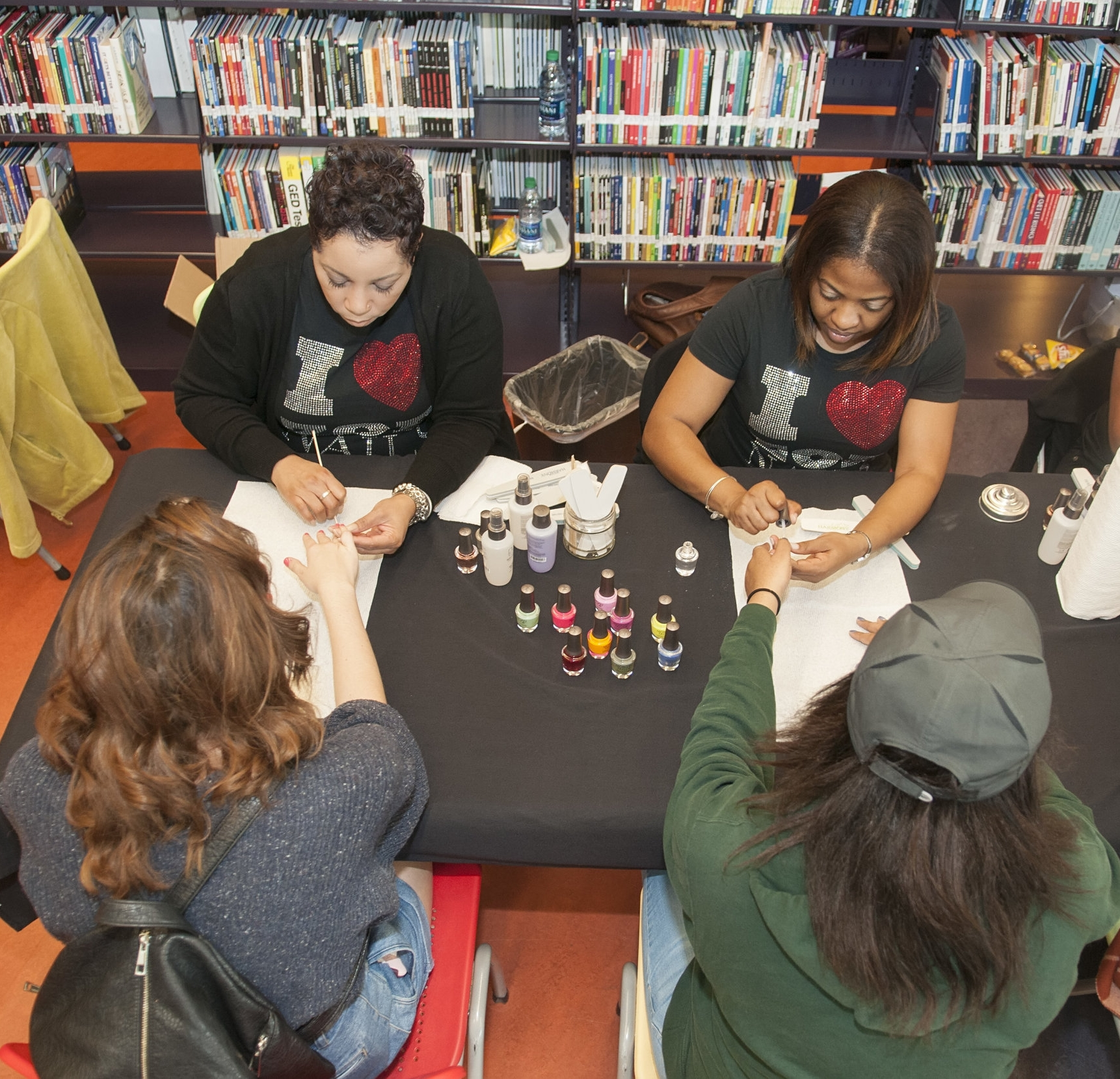Over 100 teen girls received nail services from Zoe after they attended etiquette classes and picked out a prom dress, shoes and accessories during Girl Talk's Prom Project!