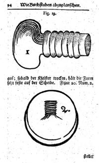 Johann Michael Funcke,  Kurtze Anleitung von Form und Stahlschneiden  (Erfurt, 1740)