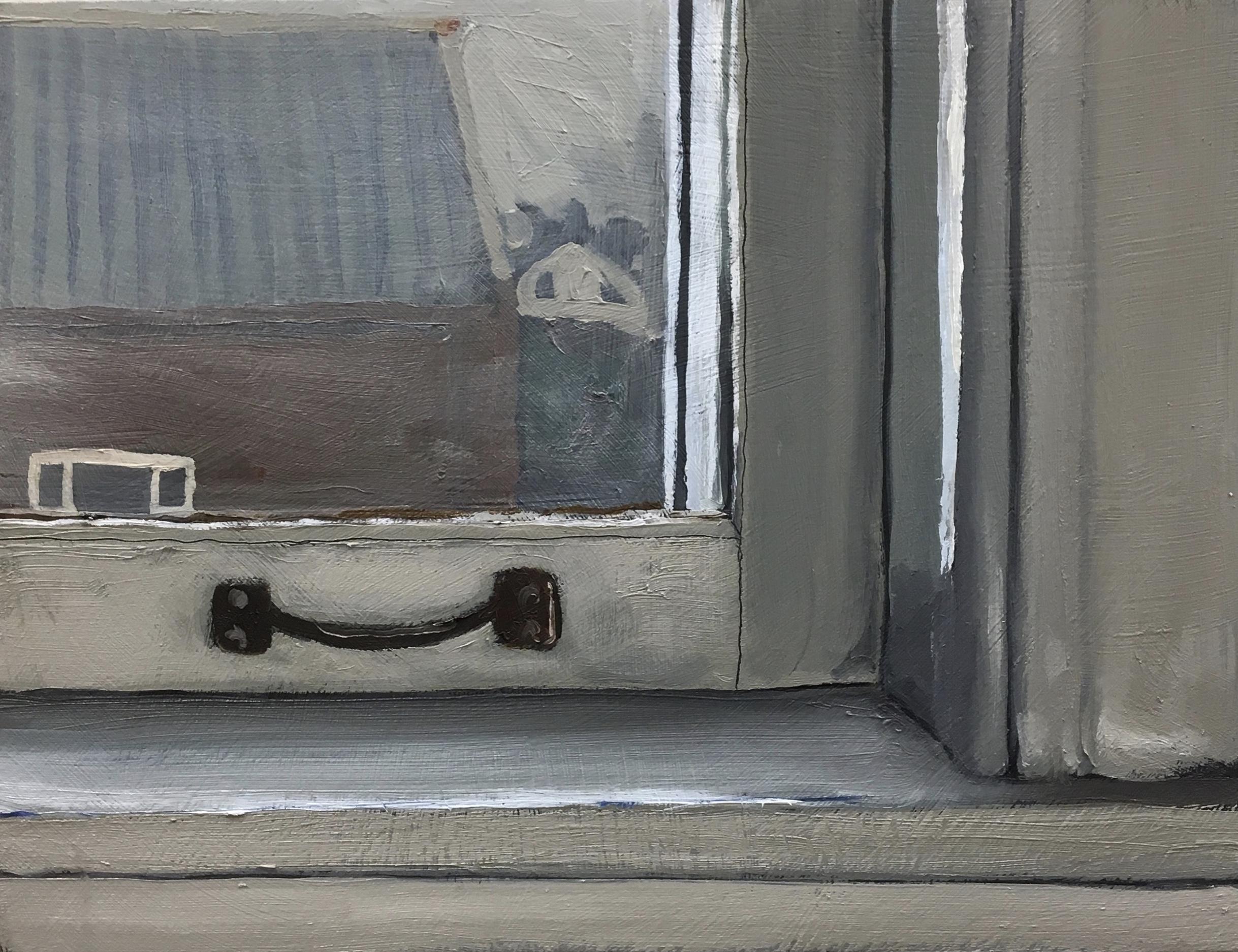 """Ledge, oil on panel, 5"""" x 6"""" 2017"""
