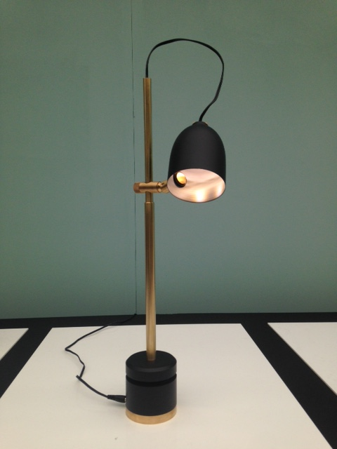 Gorgeous sublime black + brass table lamp by Elitsa Boneva, a future classic if ever there was one!  www.elitsabboneva.squarespace.com