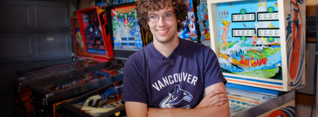 Robert Gagno, the world's newest pinball champion.