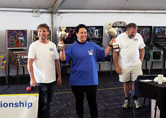 Naiomi taking 3rd place at the 2014 Australian Pinball Expo Championship, the largest pinball competition Australia has ever held.