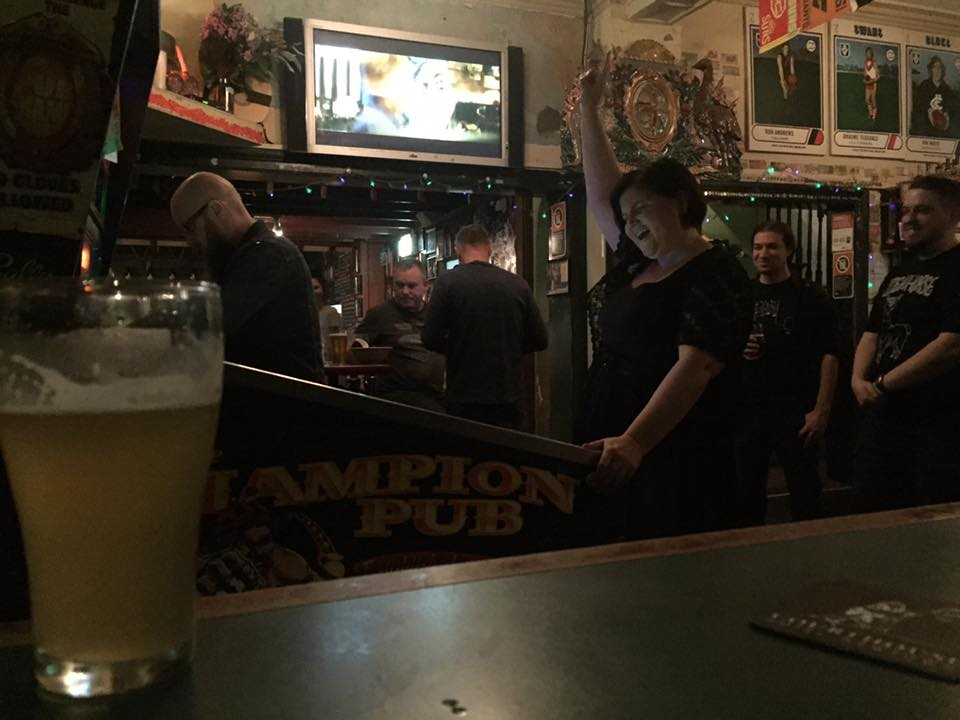Beer, pinball and laughs - I think this photo captures the essence of ZBall quite well. Photo by Paul Kaczorek.