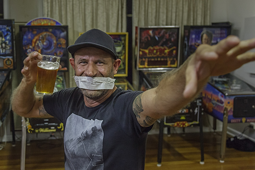 The state rivalry at this years ACS was obviously a very serious affair. Here Paul Reid shows the other states how things get done in NSW. Photo by Matthew Venables Photography  http://mvenables.com