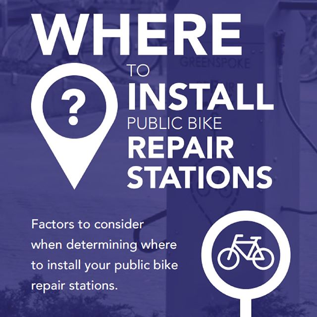 "🛠🔩 Bicycle Repair Station Guide series, Part 3/3 🔩🛠 ""I want a bicycle repair station, but where should I install it?"" (See the guide in more detail by following the link in our bio) ———————— #GoGreenspoke #bicyclerepair #repairstations #cyclelife #bikerepair #bikerepairstation #cyclecanada #bikeallday"
