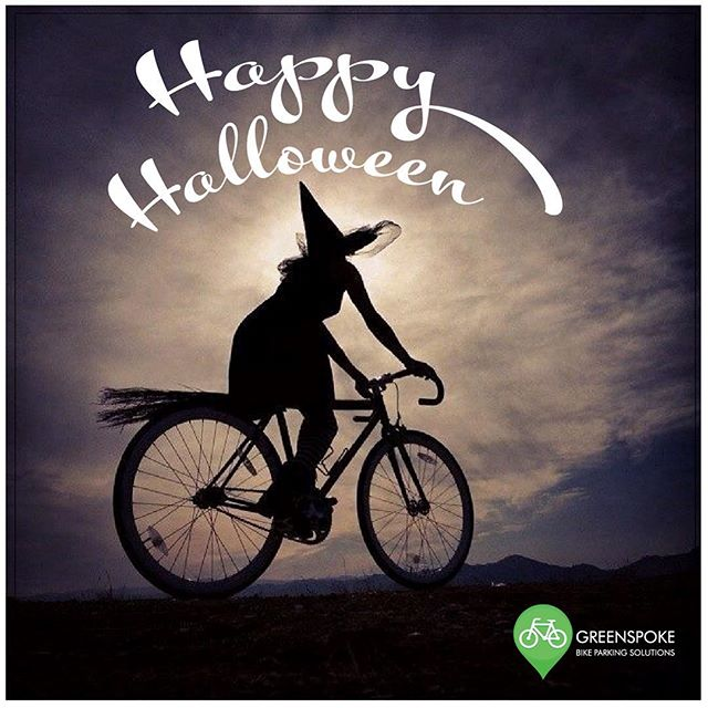 Who needs a broomstick when you have a bicycle! Wishing everyone a safe and spooky day. 🎃 👻  #happyhalloween #gogreenspoke #trickortreat #hallowenfun #cycling