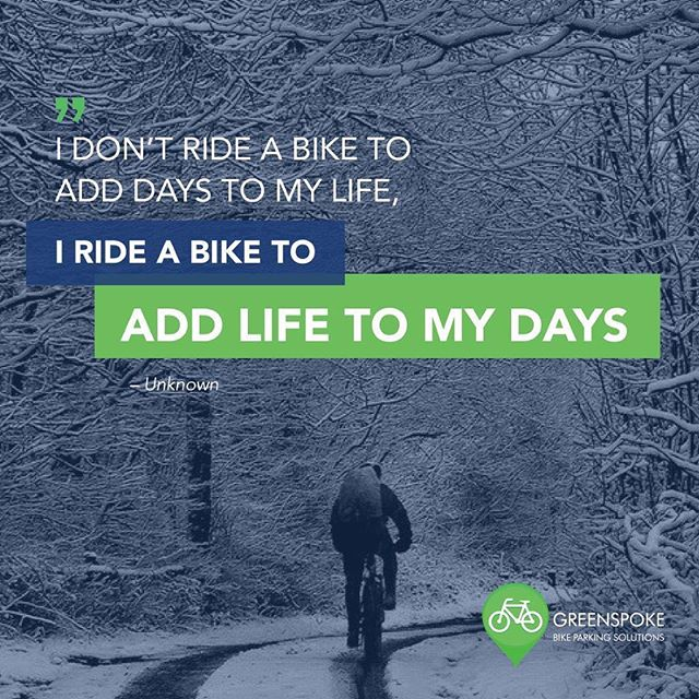 New year marks a new beginning. How will you add some life to your days?  #newyear #gogreenspoke #wintercycling #2019goals