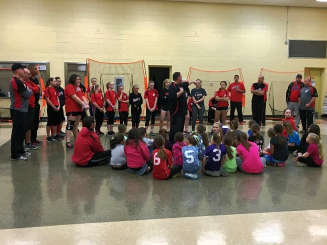 The Red Raiders ran a 3-week clinic offering instruction to Little League Softball players, with instruction from Red Raiders coaches and players.