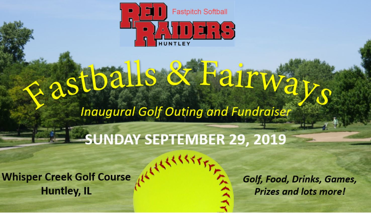 Fastballs & Fairways Golf Outing and Fundraiser - We simply wouldn't be the program we are without the help that our community businesses provide, and we thank you for your involvement!