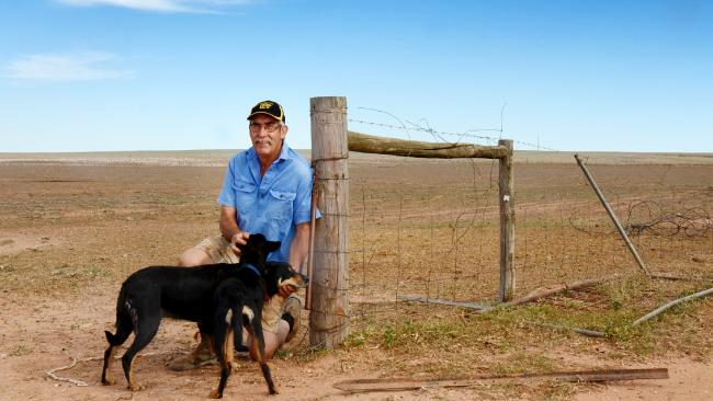 Kimba farmer Jeff Baldock at the property he has offered for Australia's new nuclear wastedump. Picture: Katrina Koch.