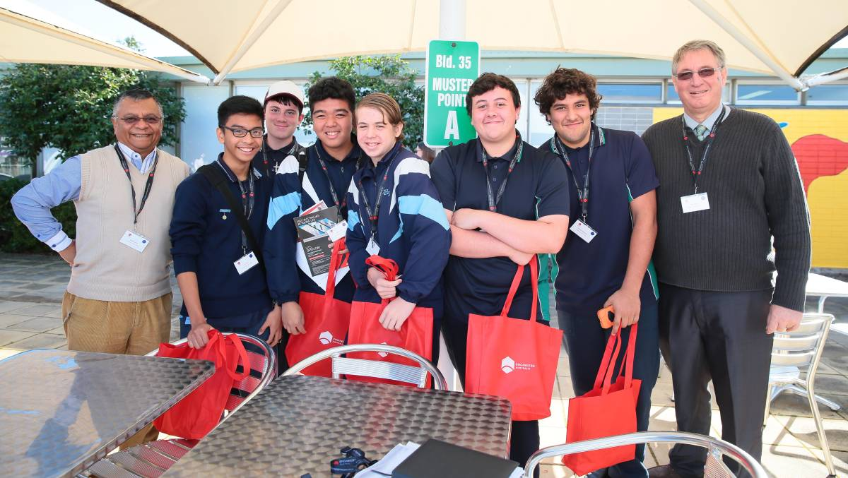 FUTURE LEADERS: Kingswood High School students at ANSTO's Discover Engineering Day earlier this month.
