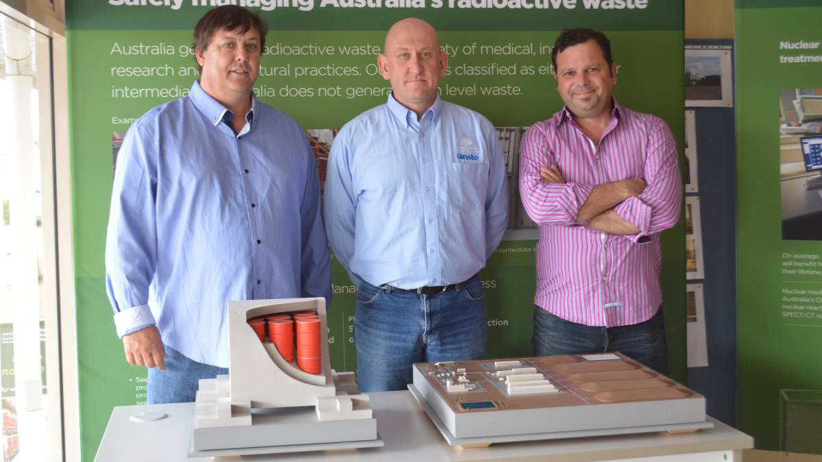Experts: Nuclear experts Dr Geoff Currie, Mark Moore and Hef Griffiths visited Kimba to discuss the potential nuclear waste facility during the consultation period.