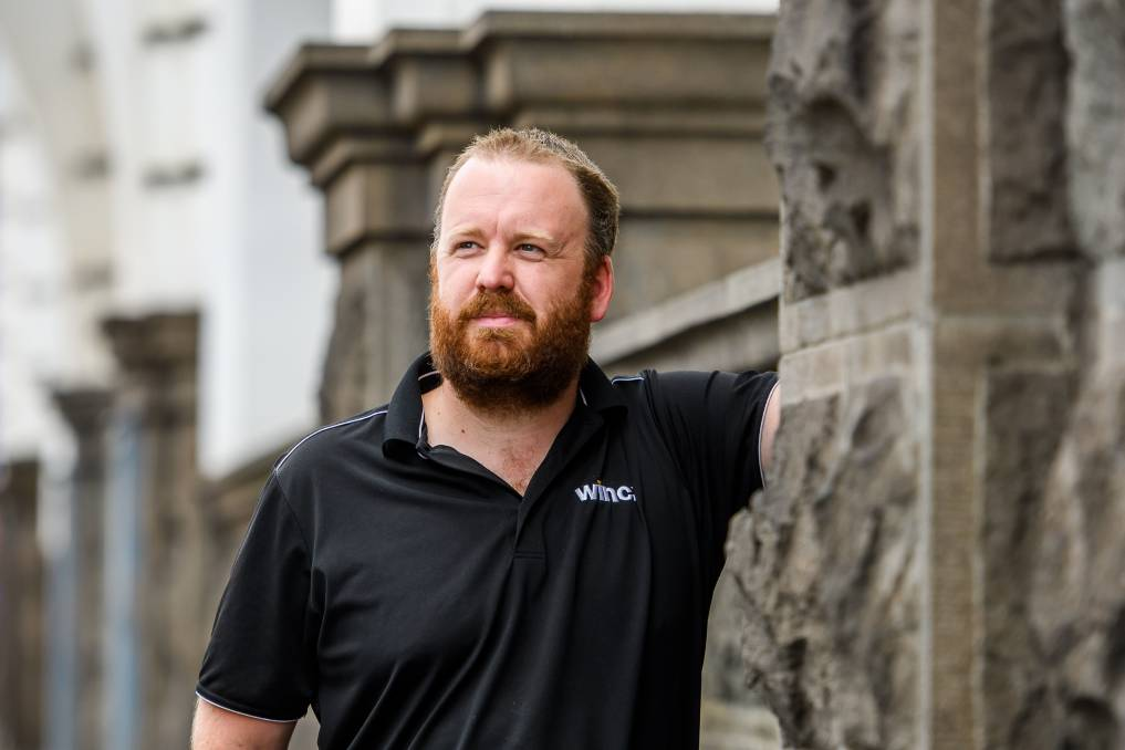 GROWTH: Launceston's Matt Little has pledged not to shave his head for 12 months to raise funds for a stillborn charity. Picture: Scott Gelston