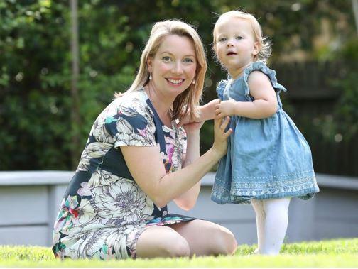 Lauren Martyn-Jones gave birth to twin girls Audrey and Lillian in March 2017. Tragically, Audrey was stillborn. Picture: Peter Wallis