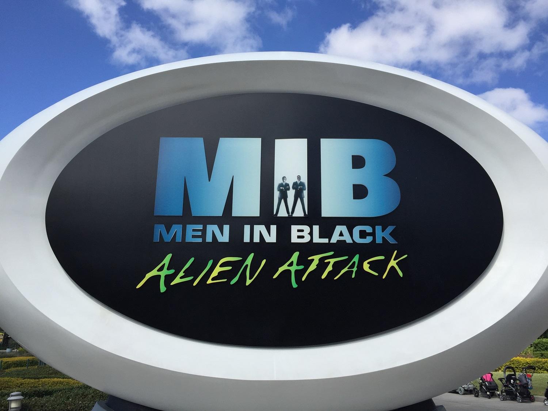 Men In Black Alien Attack ride sign.