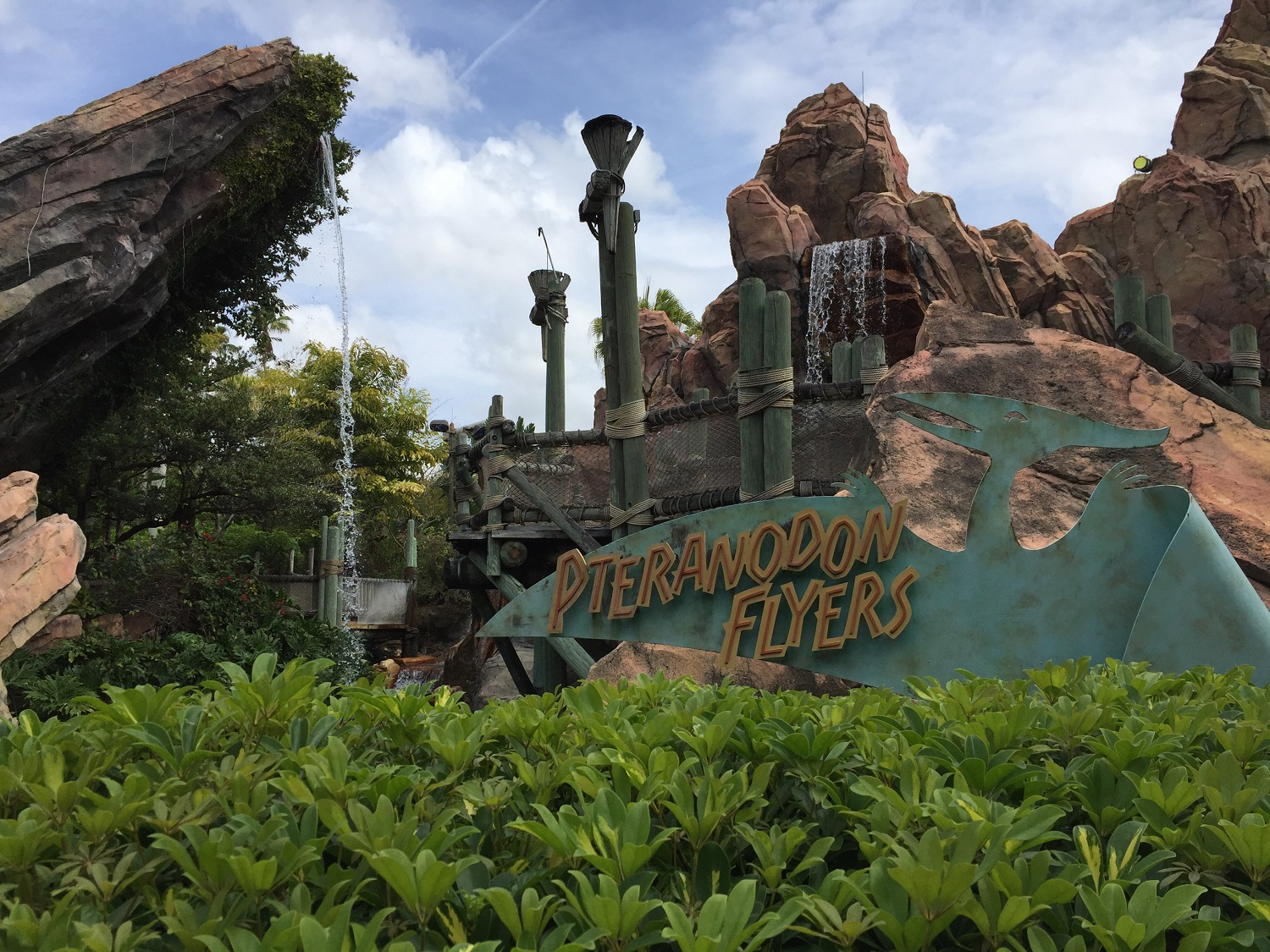 Look for Pteranodon Flyers, an aerial coaster ride, in Camp Jurassic.