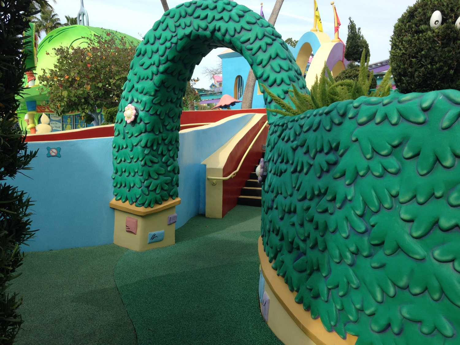 The maze in the If I Ran the Zoo play area.