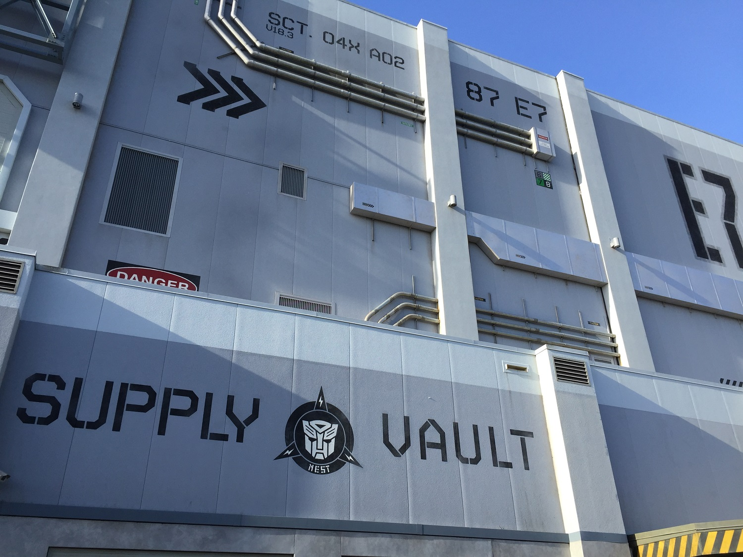 Guests can visit the Supply Vault gift shop after exiting the TRANSFORMERS ride.