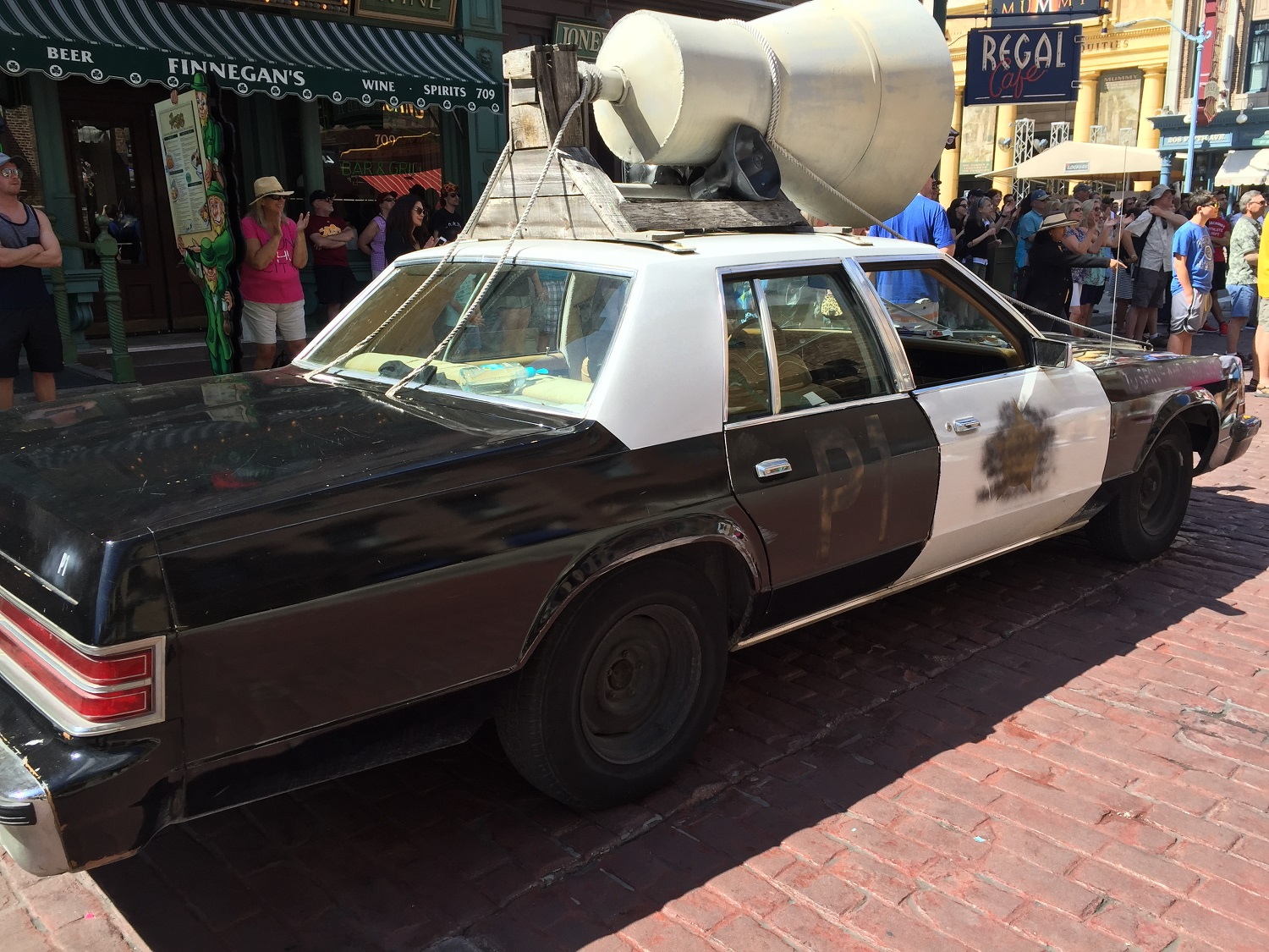 The Blues Brothers car provides transport to the New York area for Jake and Elwood.