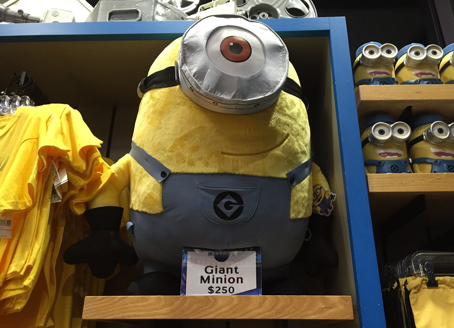 This Giant Minion always gets a lot of attention in the Universal Studios Store in CityWalk Orlando.