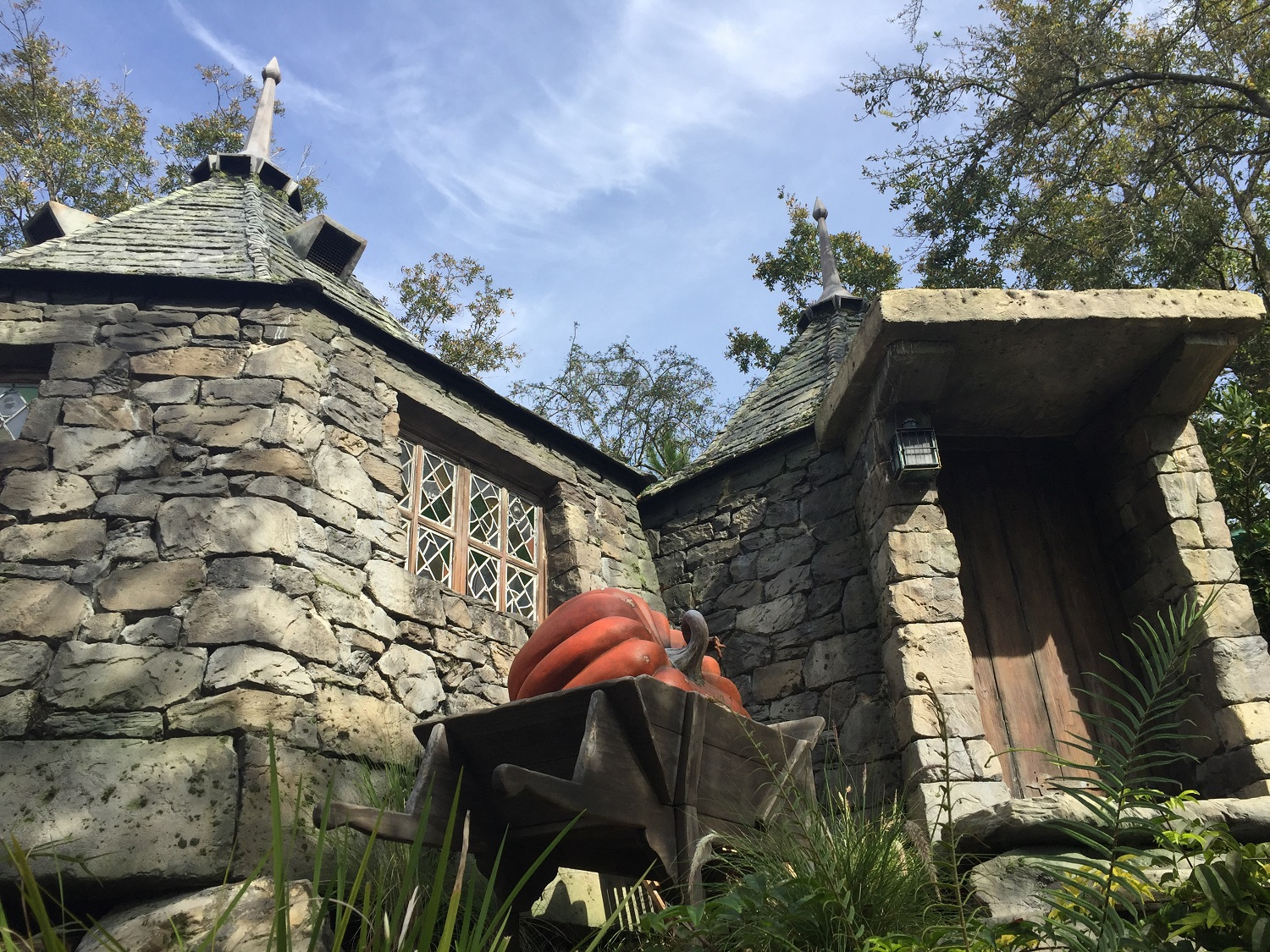 Hagrid's Hut next to the Flight of the Hippogriff  queue.