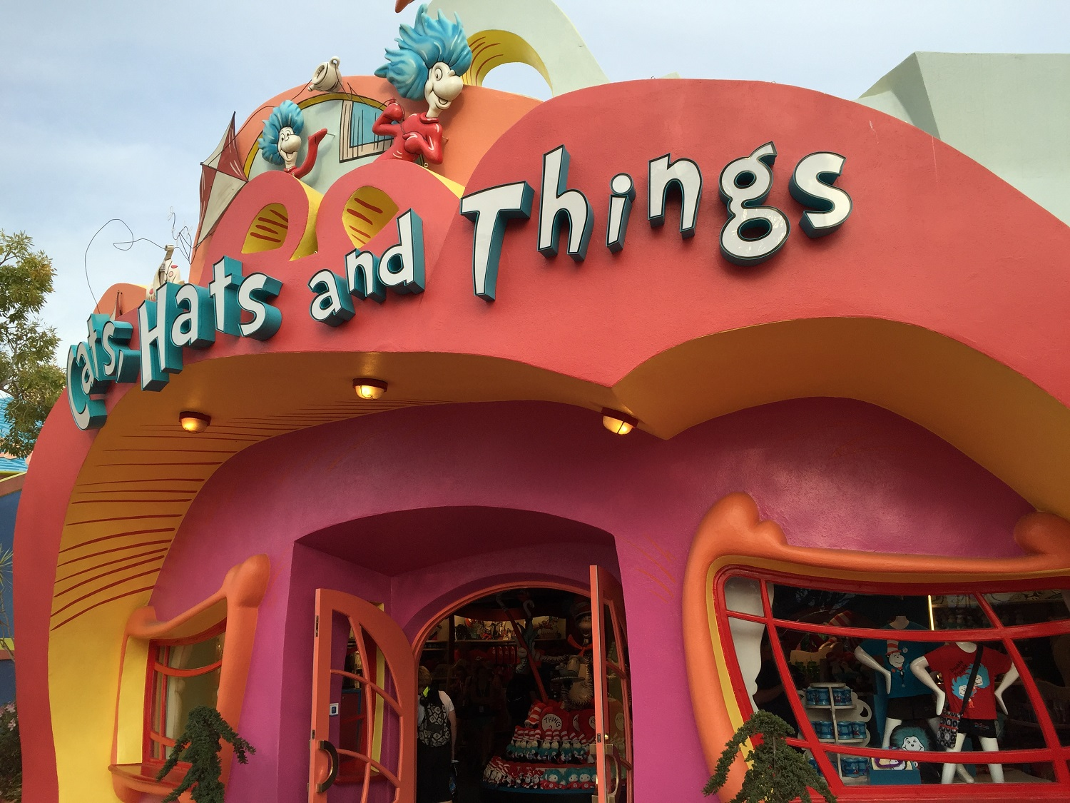 You can visit the Cats, Hats and Things store after riding The Cat in the Hat.