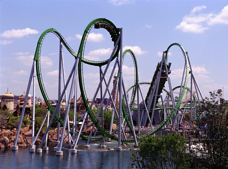 The Incredible Hulk Coaster. Image credit: Universal Orlando Resort.