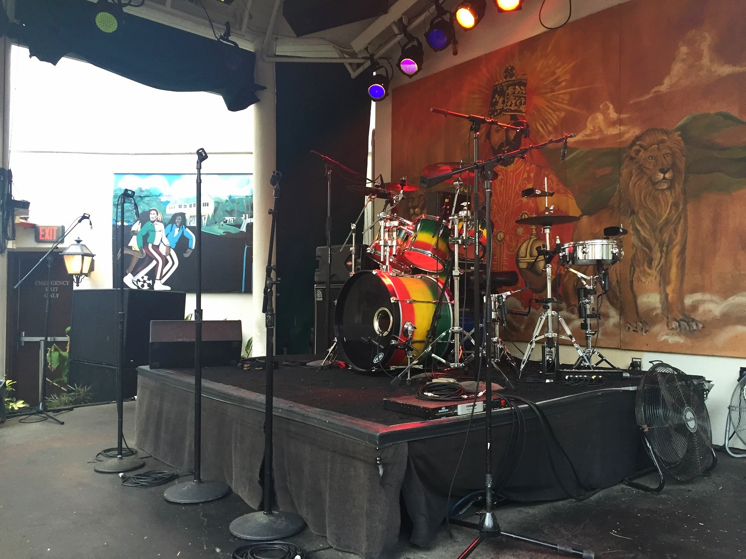 The stage in the courtyard of Bob Marley - A Tribute to Freedom.