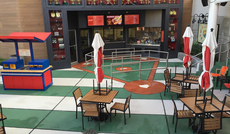 CityWalk Hot Dog Hall of Fame Tables