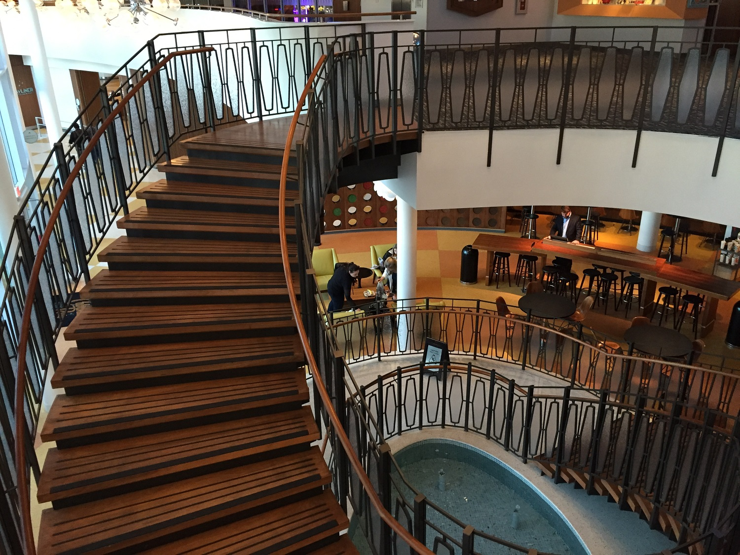 Staircase to the Second Floor of Cabana Bay