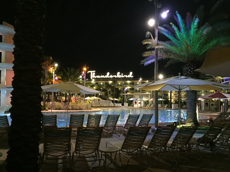 Cabana Bay Thunderbird at Night