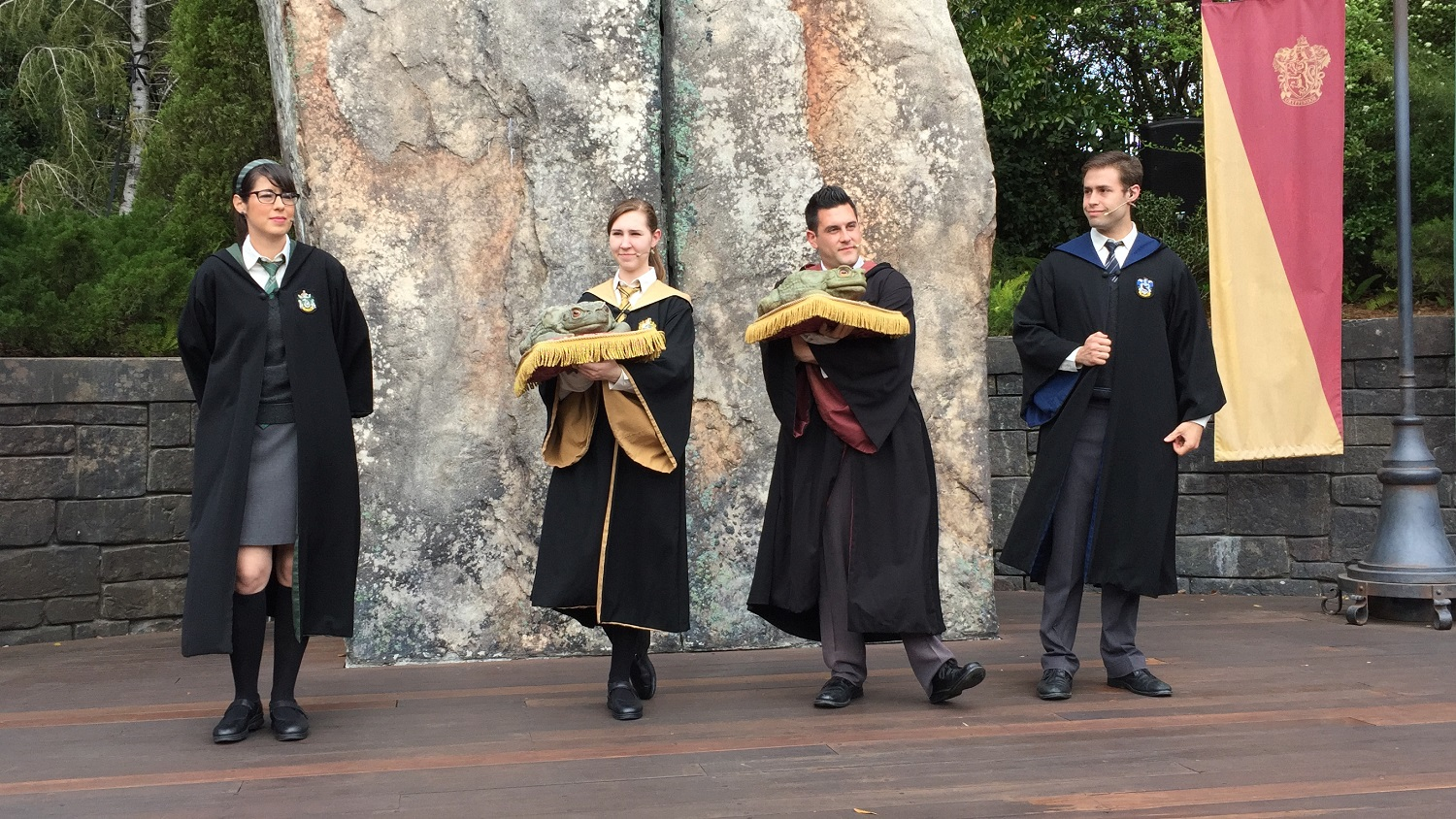 The Frog Choir also performs on the Hogsmeade stage.