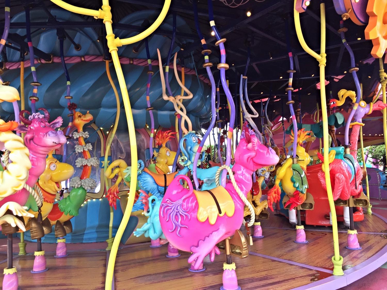 Various Seuss Characters on the Caro-Seuss-El